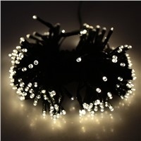 200 LED Solar Fairy Light String Light for Christmas Wedding Garden Decor tree warm white
