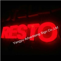 Factory 3D outdoor acrylic channel marquee illuminated sign letters for hotel