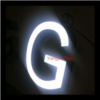 Led shop name sign board epoxy resin channel letter sign