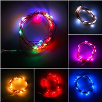 100% Brand new and  ! 2M 20 LEDs Button Battery Operated LED Copper Wire String Fairy Lights Party
