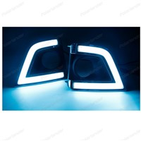 2 PCS led Daytime Running Light for Toyota Corolla 2014 2015 with Turn Signal Fog Lamp DRL