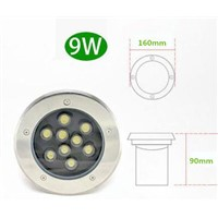 LED Underground Light 9W Buried Recessed Floor Ground Yard Path Landscape Lamp Outdoor Lighting 5PCS