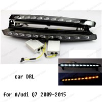 Car styling Cover 12V Car DRL LED Daytime Running Light For A/udi Q7 2009-2015