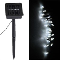 EWS GARLAND SOLAR LIGHT 50 LED White DECO FESTIVAL