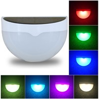 Outdoor LED Solar Lamp Color Changing LED Garden fence lights Outdoor LED Wall Light for Porch, Patio, Yard, Garden, Walkways