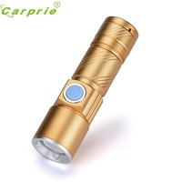 Super USB Flashlight Light Bag Rechargeable Flashlight Zoomable Lamp 170308 Drop shipping