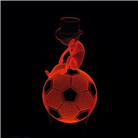 Novelty 3D Football Visual Lights Lamp LED 220V USB Cable Lights Decoration Table Lamp
