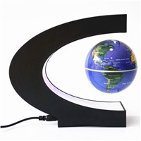 BEST World Globe Light Night Lights C Shape LED World Map Floating Globe Decoration Magnetic Levitation Light table lamp