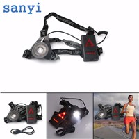 Outdoor Sport Running Lights Q5 LED Night Running Flashlight Warning Lights USB Charge Chest Lamp White Light Torch Tools