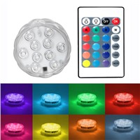 ITimo Wireless Remote Control LED Float Water Light Night Light Flower Shape Waterproof Swimming Pool Decoration Lamp RGB 10 LED