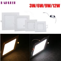 High Quality  3/6/9/12W Dimmable LED Recessed Ceiling Panel Down Light Bulb Lamp