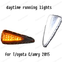 auto part Car Styling LED Daytime Running Lights DRL For Toyota Camry 2015 Turn Signal Fog Lamp