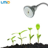 Lmid 9W SMD5730 Full Spectrum LED Growing Light For Plants Hydroponics Greenhouse Growth Lamps With 360 Degrees Tube Holder Clip