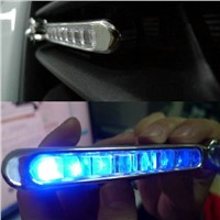 2 Pcs/lot 8-LED Blue Auto Car Truck Motorcycle Wind Power Day Fog Driving Light Lamp   ALI88