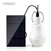 Holigoo Solar Light 15W 130LM Solar Lamp Portable Bulb Light Solar Energy Lamp Led Lighting Solar Panel Camp Tent Fishing Light