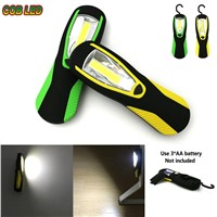 COB LED Waterproof Light Flashlight Work Torch With Magnetic Hook Camping Outdoor Hand Lamp  CLH@8