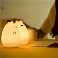 Creative Allochroic Colorful Animal Silicone Meng Pet Cute And Colorful Light Lamp Night Light Child Gift Home Decoration #LO