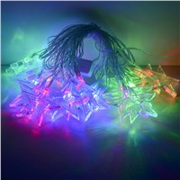 5M 20 Led Waterproof Christamas Star Hanging Lights LED string lights for holiday Wedding Party Outdoor Indoor