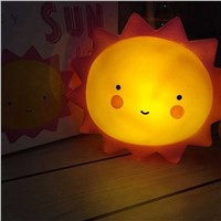 Cartoon Bedroom Decoration Room Decors Kids Baby Bedside Light Smile Face Clour/Sun/Moon/Milk Bottle Led Night Light Novelty