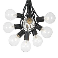 1X 3M 10pcs Clear G40 Bulbs Globe String Light Patio Garden Outdoor Hanging Umbrella Patio String Lighting fixtures Waterproof
