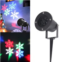 Outdoor Christmas Light Waterproof Snowflake Laser LED Landscape Light Garden Projector Christmas Festival Decoration Lamp