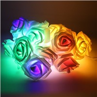 Multi-colored Rose String Light LED Festival Fairy Lights For Christmas Xmas Party Wedding Decoration Night Lights