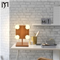 led table lamp modern fashion decorative night light desk lamp for living room bed room ball bulb Desk Lamp Projector Lamp