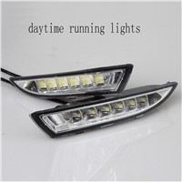 1 pair auto lamp LED Daytime Running Light for Volkswagen R scirocco 2009-2013 DRL with Yellow Turning Function