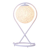 220v EU plug table lamp Rattan Ball design Takraw night light for Bedroom Bedside living room indoor lighting Diameter 20cm