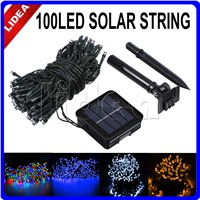 12M 100 LED Outdoor Solar Powered Wedding New Year Garlands Christimas Light String Fairy Garden Decoration Solar Lamps HK C-29