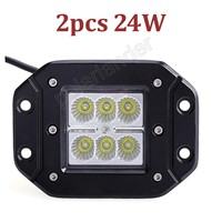 2pcs LED Work Light 24W for  Tractor Truck Trailer Motorcycle Off road Driving Vehicle Spot Lamp