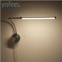 [YGFEEL] 6W LED Wall Lamps With European Plug / American Plug Indoor Bedroom Bedside Lamp Study Reading Lighting AC90-260V