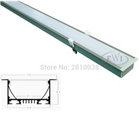 9 X 0.6M Sets/Lot T type Anodized Silver Linear lighting led and Linear pendant lighting for ceiling and pendant lights