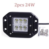 Work Light 2pcs LED for Motorcycle Tractor Truck Trailer Off road Driving Vehicle 24W Spot Lamp