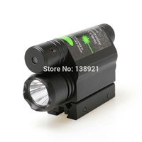 2 in 1 LED Flashlight Combo Tactical Flashlights Q5 LIGHT 200LM with Green Laser Sight For Pistol/Gun Handgun