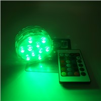 3AAA Battery Operated IR Remote Controlled The submersible light 10 Multicolors SMD LED Vase Light Waterproof Floralyte Light