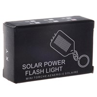 Solar-powered LED Flashlight / Keychain