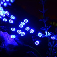 7M Solar Lights 50LEDs with spikes Blue Waterproof Outdoor Decoration Party
