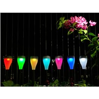 LED Solar Light RGB 7 Colors Changing Lawn Lamp Waterproof Solar Powered Hanging Outdoor Light For Garden Holiday Party Bar