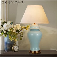 TUDA 5W LED Bulb Table Lamps American Lamp European and American Classic Ceramic Desk Lamp Flower Vase Lamp