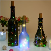 2M LED String Lamps Wine Bottle Stopper Light Cork Shaped For Bar Xmas Party Wedding Decoration Copper Wire Garland