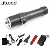 Litwod z30S-001 XM-LQ5 LED Portable Aluminum Flashlight Torch Sport Light With Magnetic For Camping Outdoor rechargeable battery