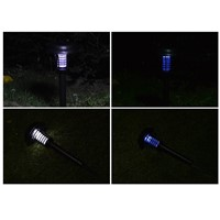 Solar powered Outdoor Mosquito Insect Killer Solar Light Garden UV LED Zapper Solar Light with spike