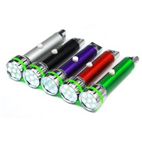 24 PCS/Pack Portable Outdoor Camping Bike Night Torches Mini Keychain Flashlight 7 LED Flashlight with Carabiner P30