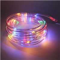 7M 50 Leds Solar String Lights With flexible tube for Christmas Holiday Garden Street Outdoor LED lights Waterproof Copper Wire