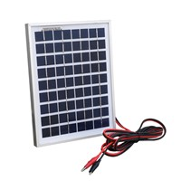 10W 12V polycrystalline solar panel system photovoltaic solar panel For small home lighting system, For RV , For cabin, For tele