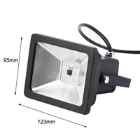 New Black LED Flood Light Lamp 20W RGB AC85-265V Floodlight Spotlight Outdoor Lighting For Garden Street Square Lighting