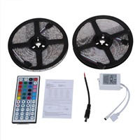 Waterproof 10M 2x5M 5050 SMD 600 LED RGB Flexible Strip Light + 44 Key Remote for decoration lighting, display lighting