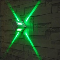 Colorful Cross Star Beam Light lamp /KTV Bar Decorative LED Wall Lamp Indoor Lighting Wall Lights Spotlight