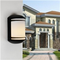Waterproof Simple Aluminum PC E27 Outdoor/indoor Wall Lamp For Entrance Garden Street Balcony Deco Ac 80-265v 1456